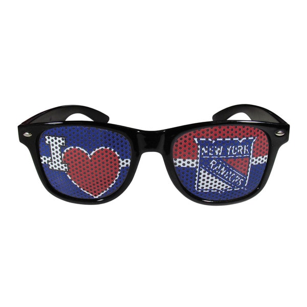 NHL Sports Team Logo New York Rangers I Heart Game Day Shades