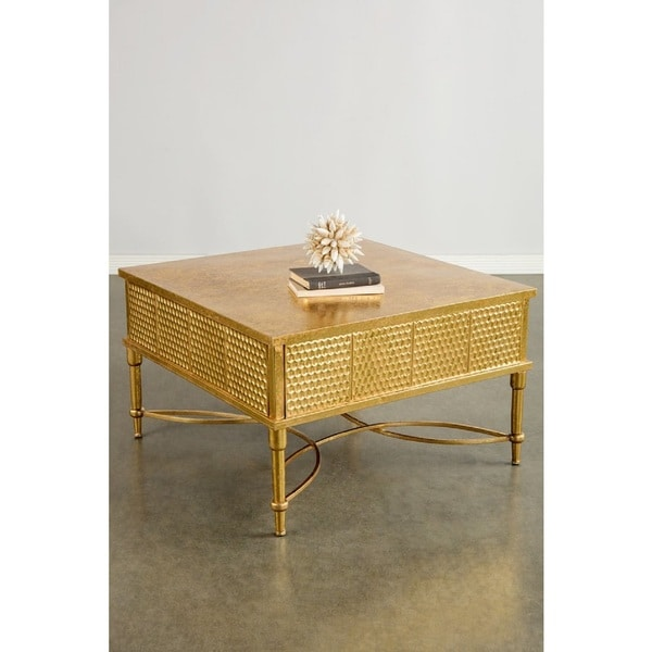 J Products Geneva Goldtone Metal Coffee Table
