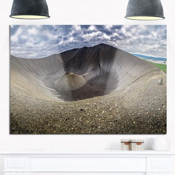 Volcano Crater Dimmu Borgir - Landscape Glossy Metal Wall Art