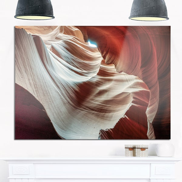 Antelope Canyons Hollow - Landscape Photo Glossy Metal Wall Art