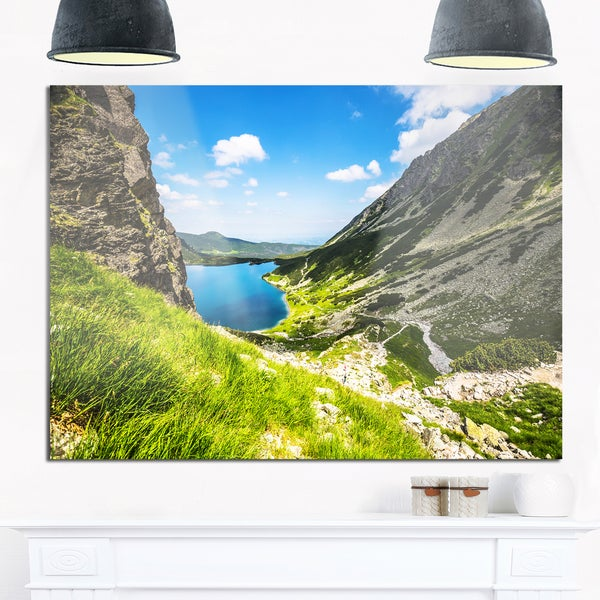 Black Pond Gasienicowy - Landscape Photo Glossy Metal Wall Art