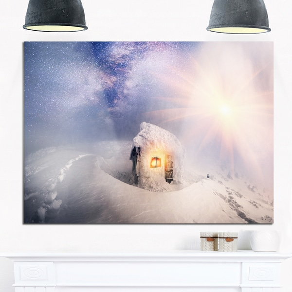 House of Rescuers Hoverla - Landscape Photo Glossy Metal Wall Art