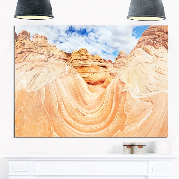 Waves of Natural Wonder - Landscape Photo Glossy Metal Wall Art