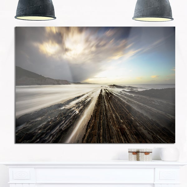 Surreal Atlantic Ocean Coast - Seashore Photo Glossy Metal Wall Art