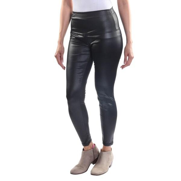 Hadari Women's One Size High Waisted Classic Black Leggings