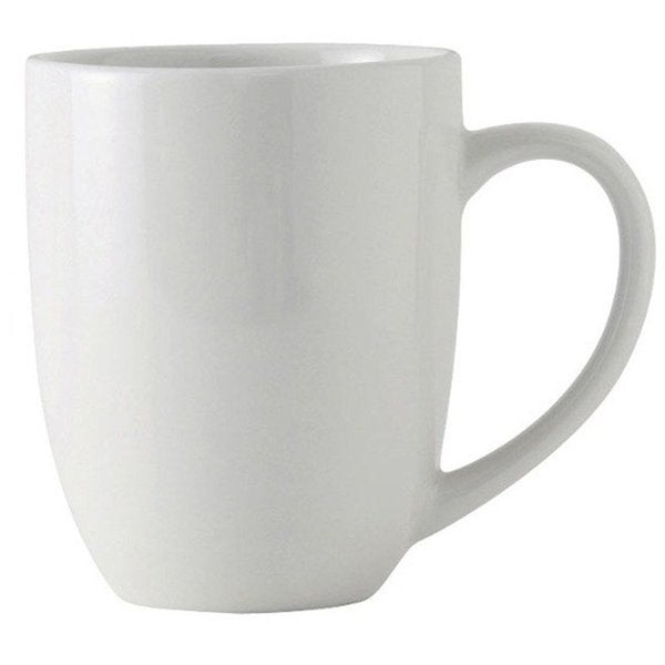 Melange Coupe White Ceramic 10-ounce Mug (Pack of 6) 21059062