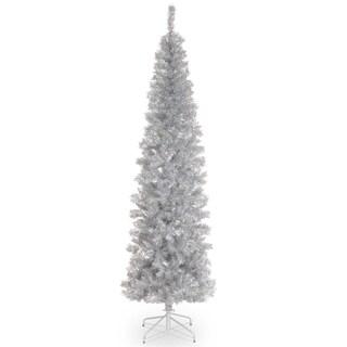 Silver Tinsel 6-foot Tree