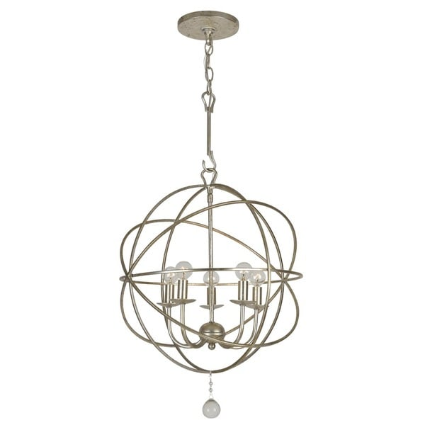 Crystorama Solaris Collection 5-light Olde Silver Mini Chandelier 21062262