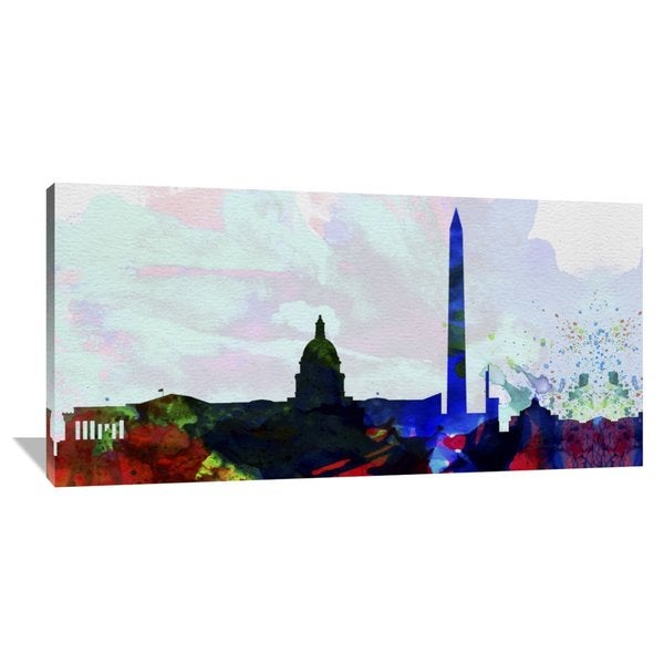 Naxart Studio 'Washington DC City Skyline 2' Stretched Canvas Wall Art