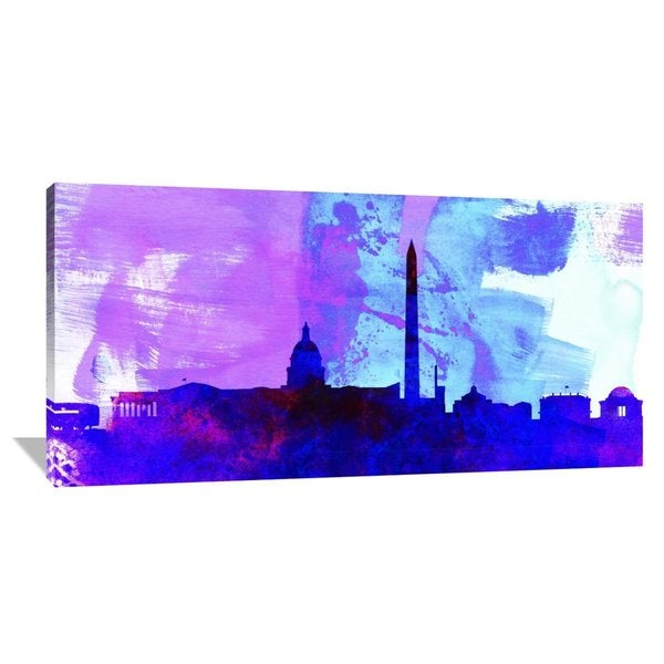 Naxart Studio 'Washington DC City Skyline' Stretched Canvas Wall Art