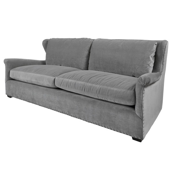 Connor Grey Velvet Sofa