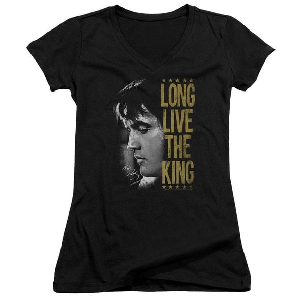 Elvis/Long Live The King Junior V-Neck in Black 21064021