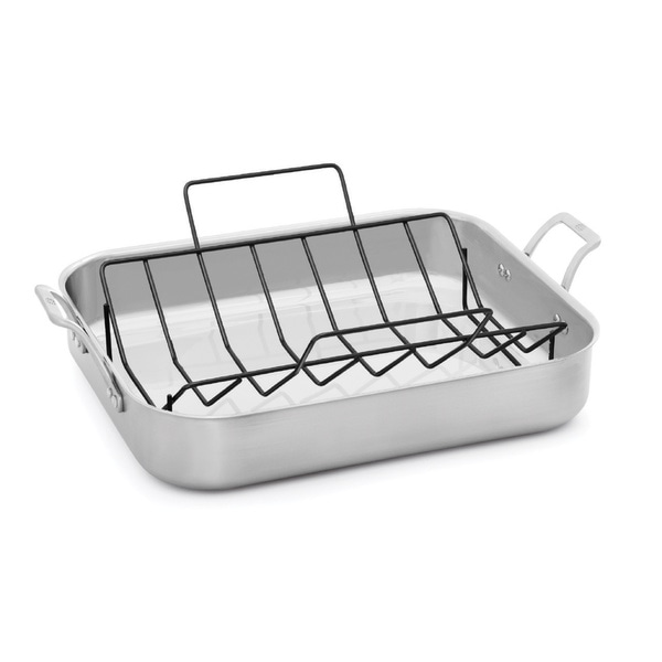 Calphalon Signature Stainless Steel 16-Inch Roaster with Rack