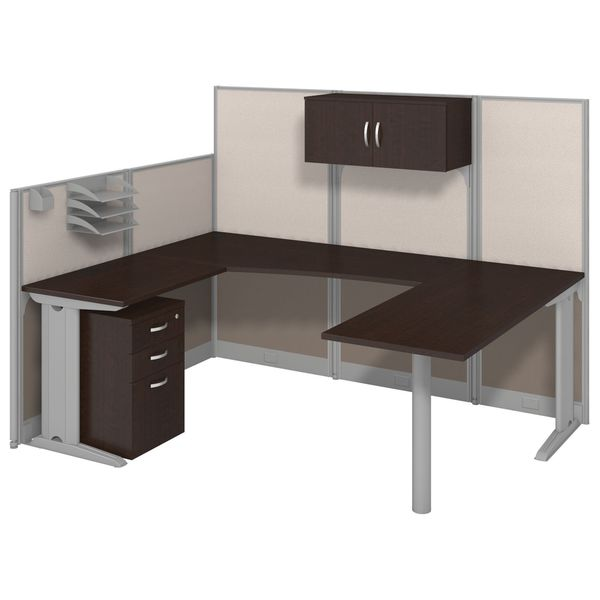 Office in an Hour 'U' Workstation with Storage and Accessory Kit