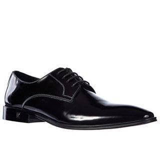 Versace Collection Black Leather Brogue Oxfords Men's Shoes
