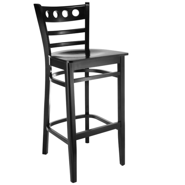 Baltimore Black Bechwood Barstool