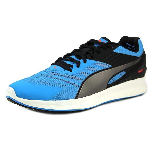 Puma Men's Ignite V2 Blue/Black Mesh Athletic Shoes