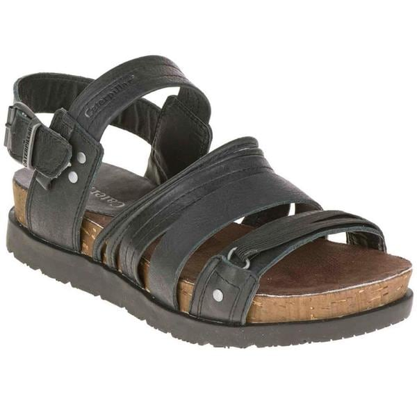 Cat by Caterpillar Women's Syd Black Leather Sandals