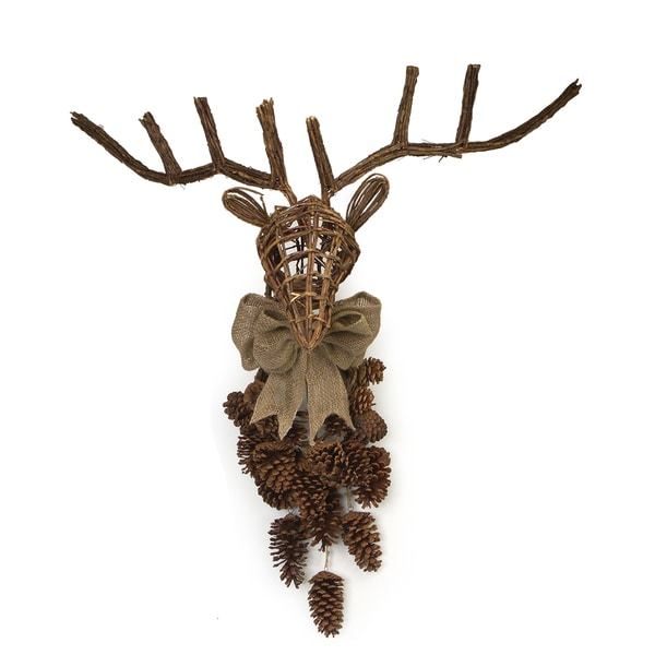 Deer Head With Pine Cones
