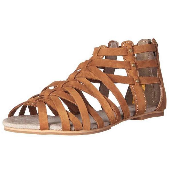 Cat by Caterpillar Women's Weavement Sundance Brown Leather Sandals