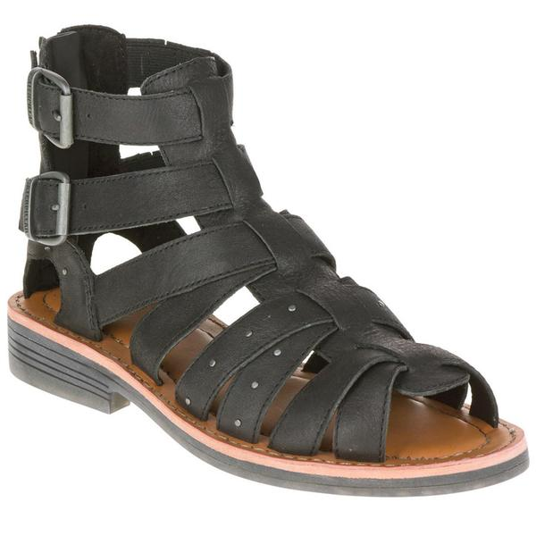 Cat by Caterpillar Women's Cassell Black/Grey/Brown Leather Sandals