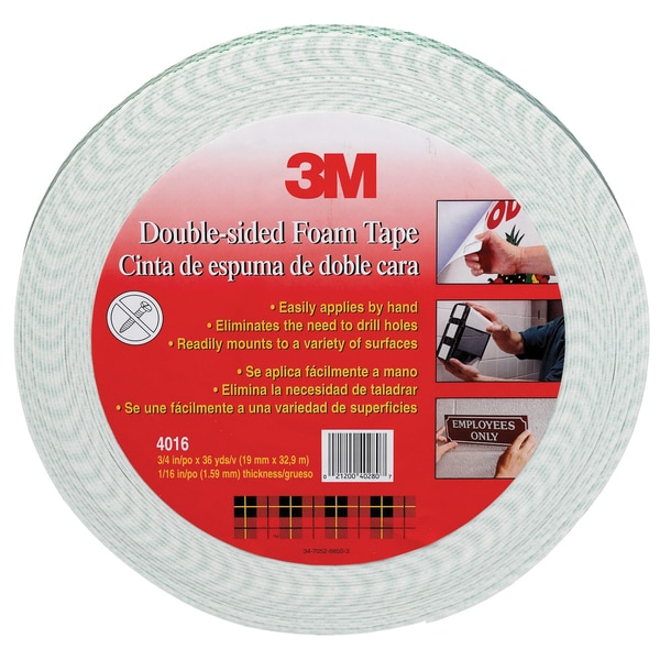 "3M 4016-1""x36YD 1"" X 36 Yards Double Sided Foam Tape"