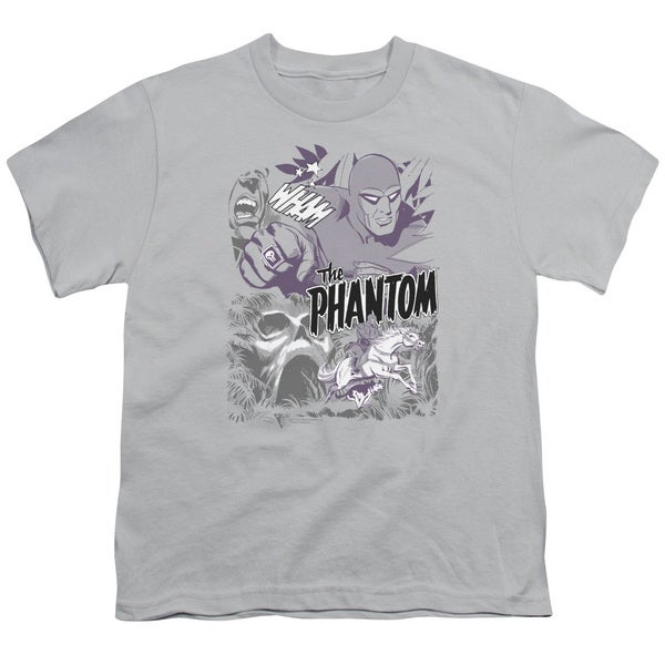 Phantom/Ghostly Collage Short Sleeve Youth 18/1 in Silver