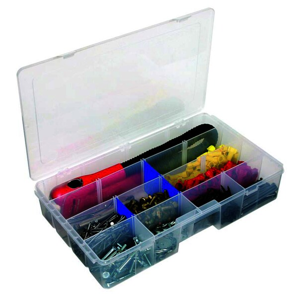Flambeau 7004R 9 Dividers Zerust Tuff 'Tainers Storage Box