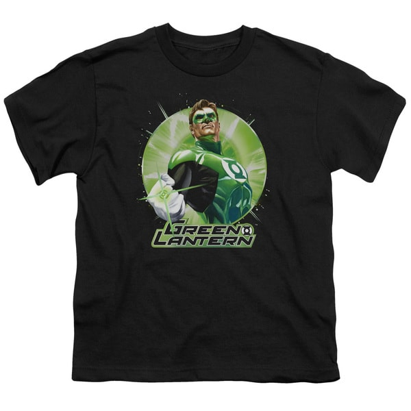 JLA/Green Static Short Sleeve Youth 18/1 in Black