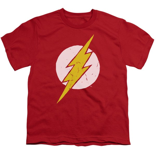 JLA/Rough Flash Short Sleeve Youth 18/1 in Red