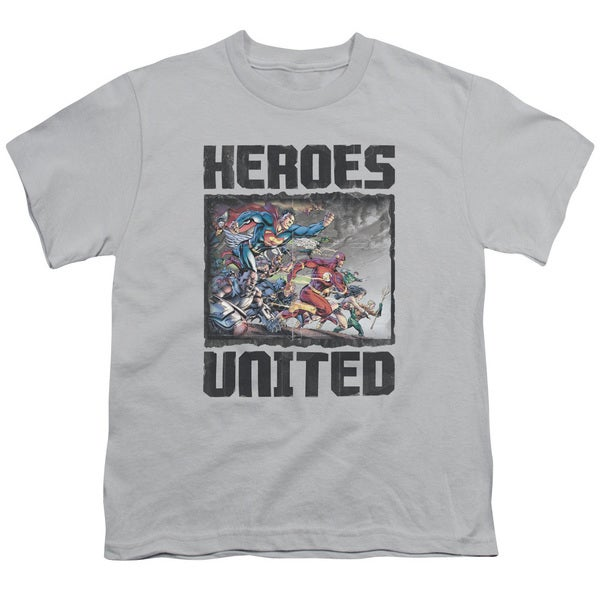 JLA/The Charge Short Sleeve Youth 18/1 in Silver