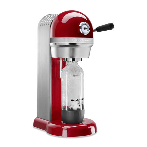 KitchenAid KSS1121ER Empire Red Metal Sparkling Beverage Maker