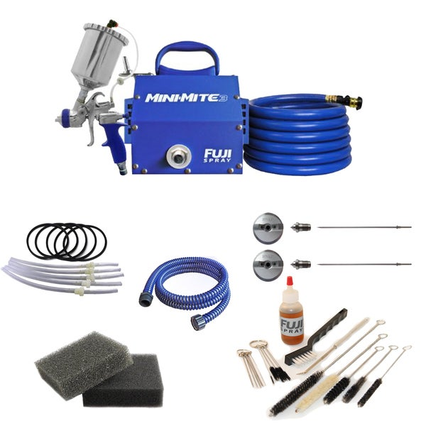 Fuji T75G Mini-Mite 3 Gravity HVLP Spray System + Pro Accessory Kit 21105210