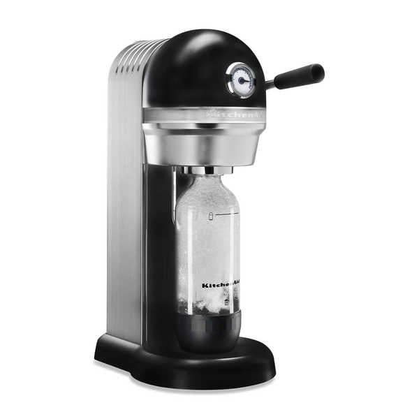 KitchenAid KSS1121OB Onyx Black Metal Sparkling Beverage Maker