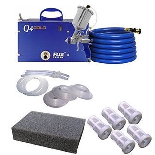 Fuji Q4 Quiet HVLP Spray System with Bottom Feed Cup Kit and Accessory Bundle 21105257