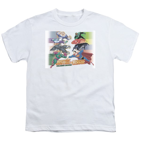 JLA/Evildoers Beware Short Sleeve Youth 18/1 in White