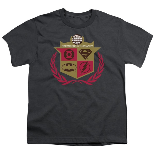 JLA/Defenders Short Sleeve Youth 18/1 in Charcoal