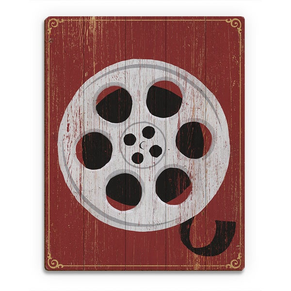 Film Reel Wood Wall Art