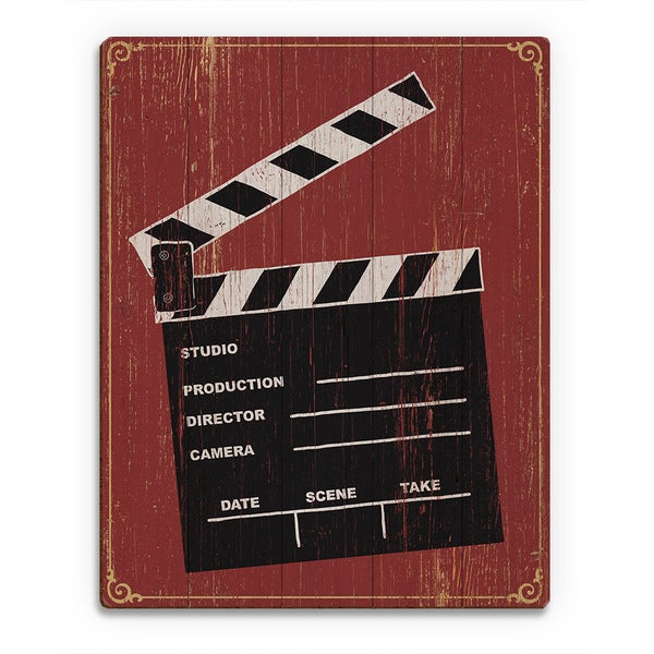 Clapperboard' Birchwood Wall Art