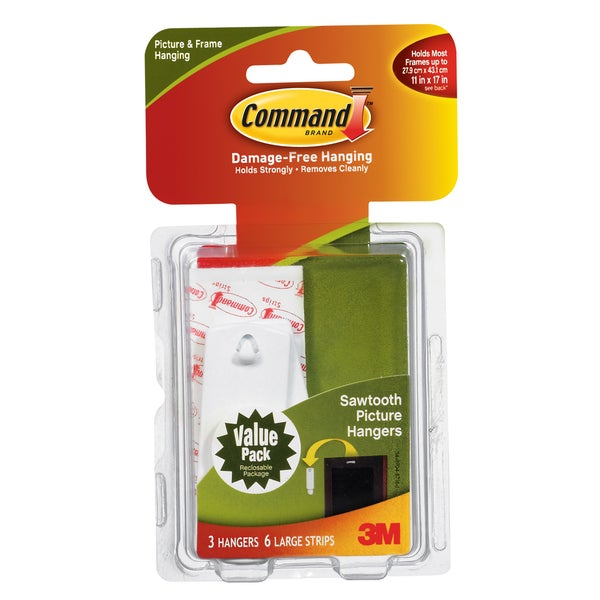 Command Strips 17042 Command Sawtooth Picture Hooks 3-count