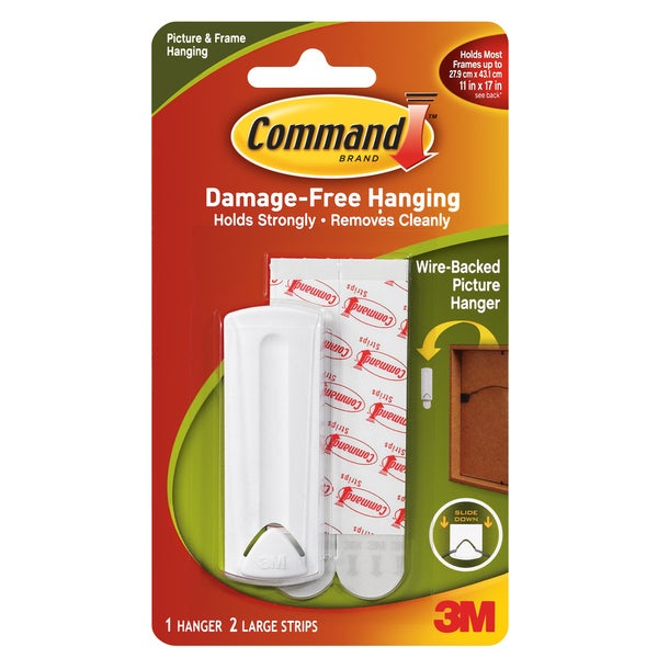 Command Strips 17041 Wire Backed Picture Hanger With Command Adhesive