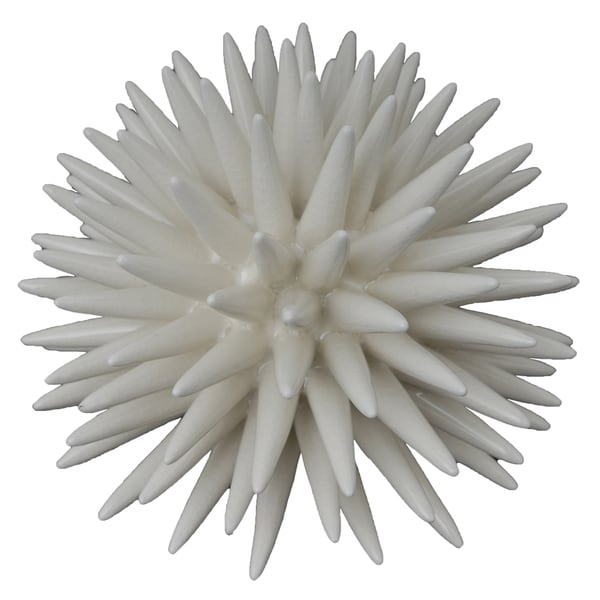 White Resin Coral Figurine