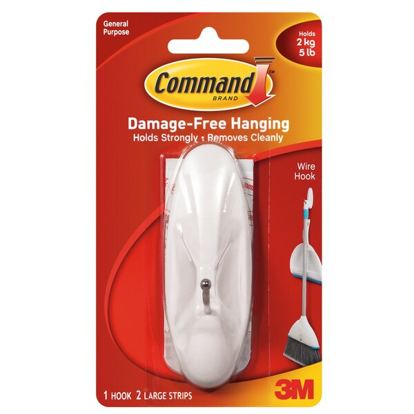 Command Strips 17069 Large Command Wire Hook