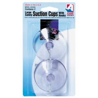 "Adams 6000-74-3040 2-1/2"" Clear Suction Cup With Metal ""U"" Hook 2-count 21106992"