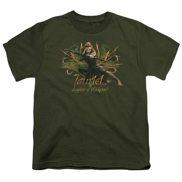 Hobbit/Tauriel Short Sleeve Youth 18/1 in Military Green