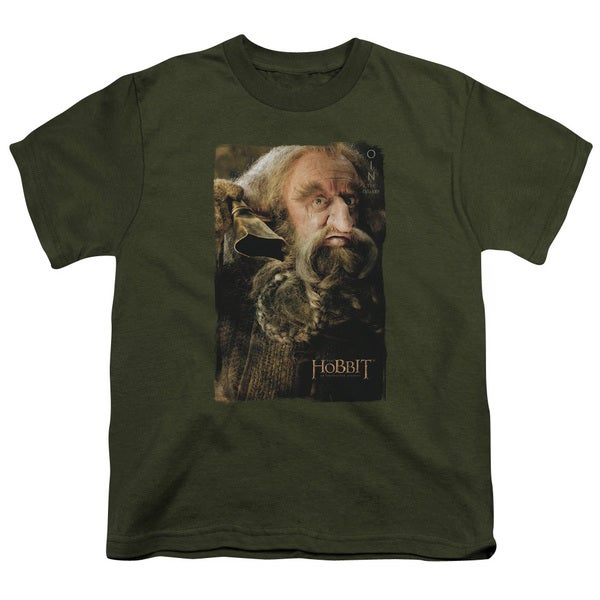 The Hobbit/Oin Short Sleeve Youth 18/1 Military Green