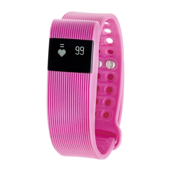 RBX Active TR3 Pink Bluetooth Fitness Activity Tracker w/ Heart Rate Monitor