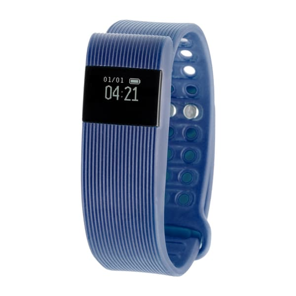 RBX Active TR3 Navy Blue Bluetooth Fitness Activity Tracker w/ Heart Rate Monitor