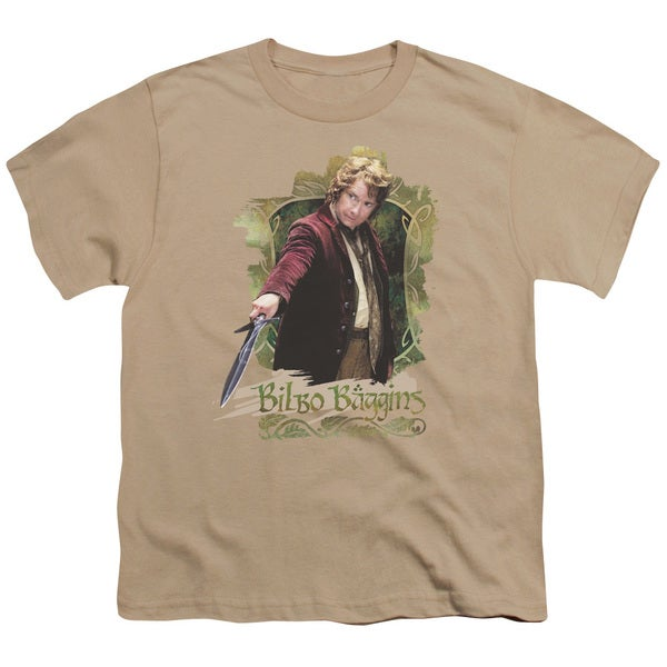 The Hobbit/Bilbo Baggins Short Sleeve Youth 18/1 Sand