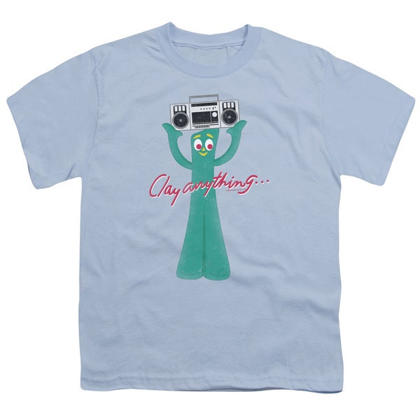 Gumby/Clay Anything Short Sleeve Youth 18/1 Light Blue